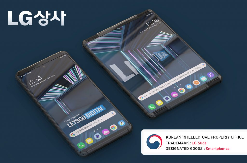 LG Rollable Phone Rendering based on Patent by Letsgodigital