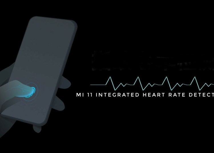 How does Xiaomi 11 detect heart rate?