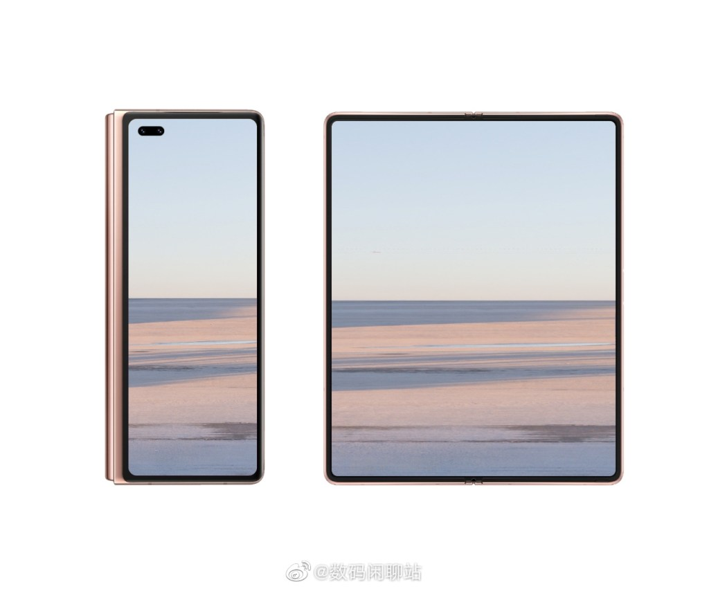 Huawei Mate X2 rendering based on prototype