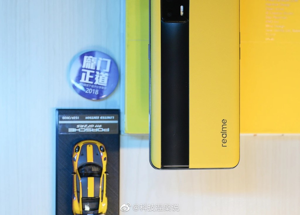 Realme GT Live Photos of Racing Yellow (Bumblebee Leather Version)