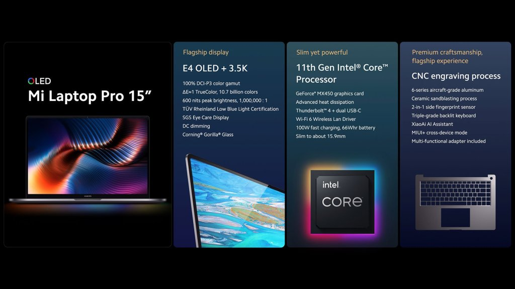 Mi Laptop Pro 15 Specifications