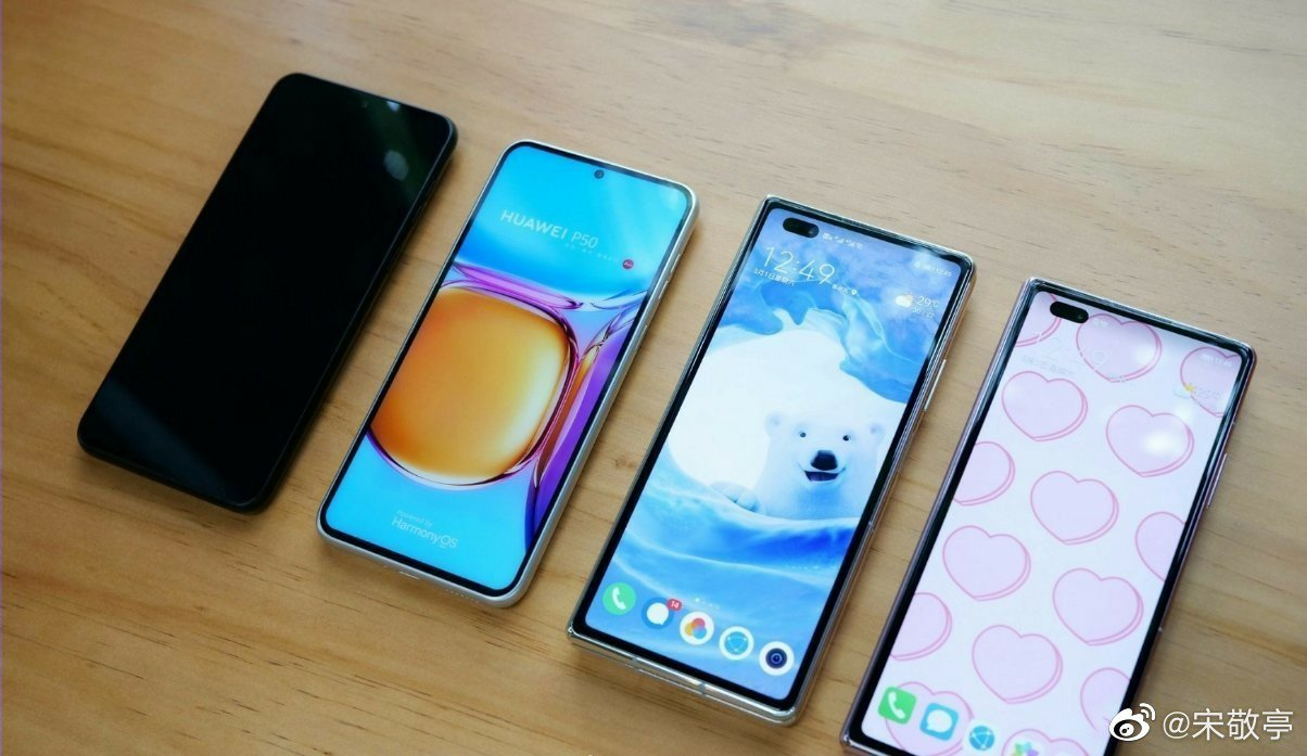Huawei P50 comparison with Huawei Mate X2