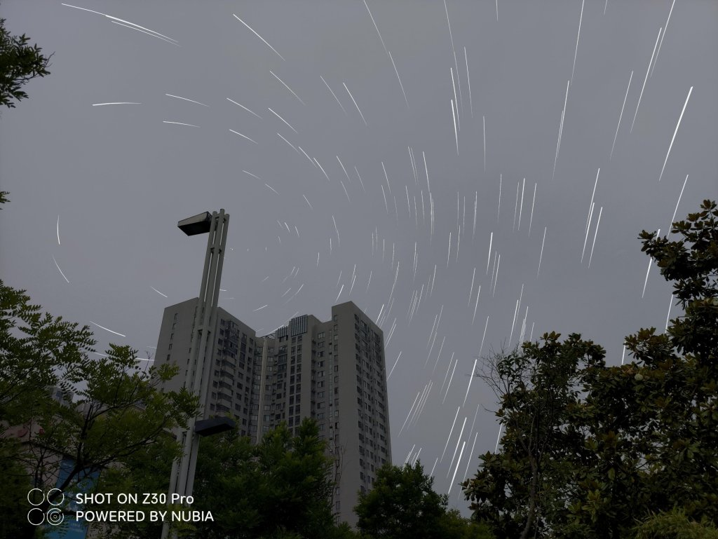 Star trajectory second shot (super wide angle effect)
