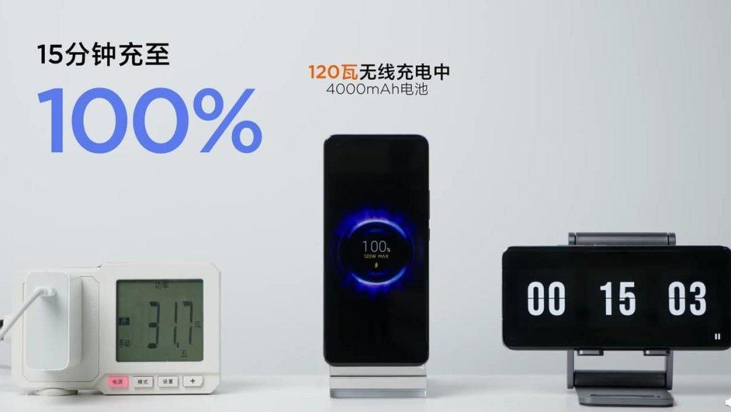 Xiaomi 120W wireless charging Speed