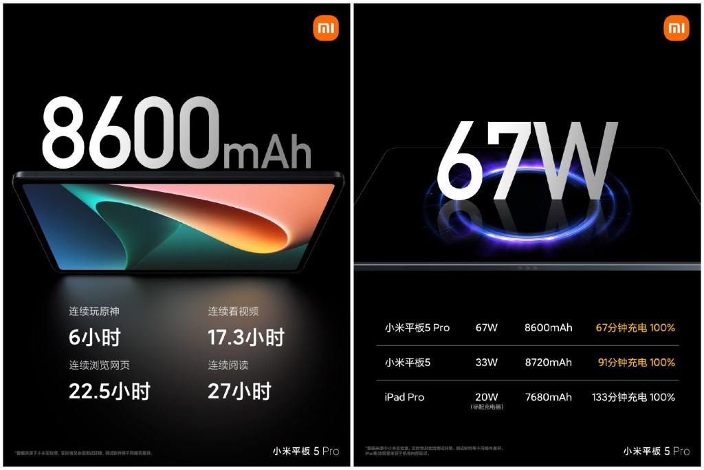 Xiaomi Tablet 5 and Xiaomi Tablet 5 Pro