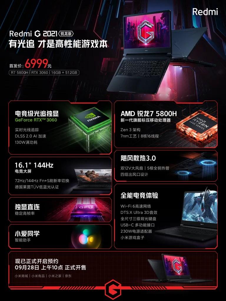 Redmi G 2021 Gaming Notebook AMD