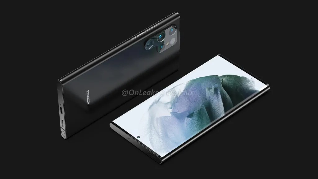 Samsung Galaxy S22 Ultra Renderings