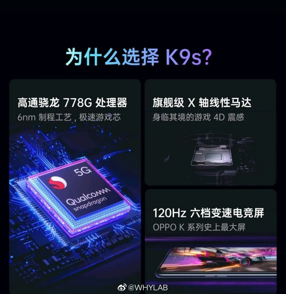 OPPO K9s Specifications
