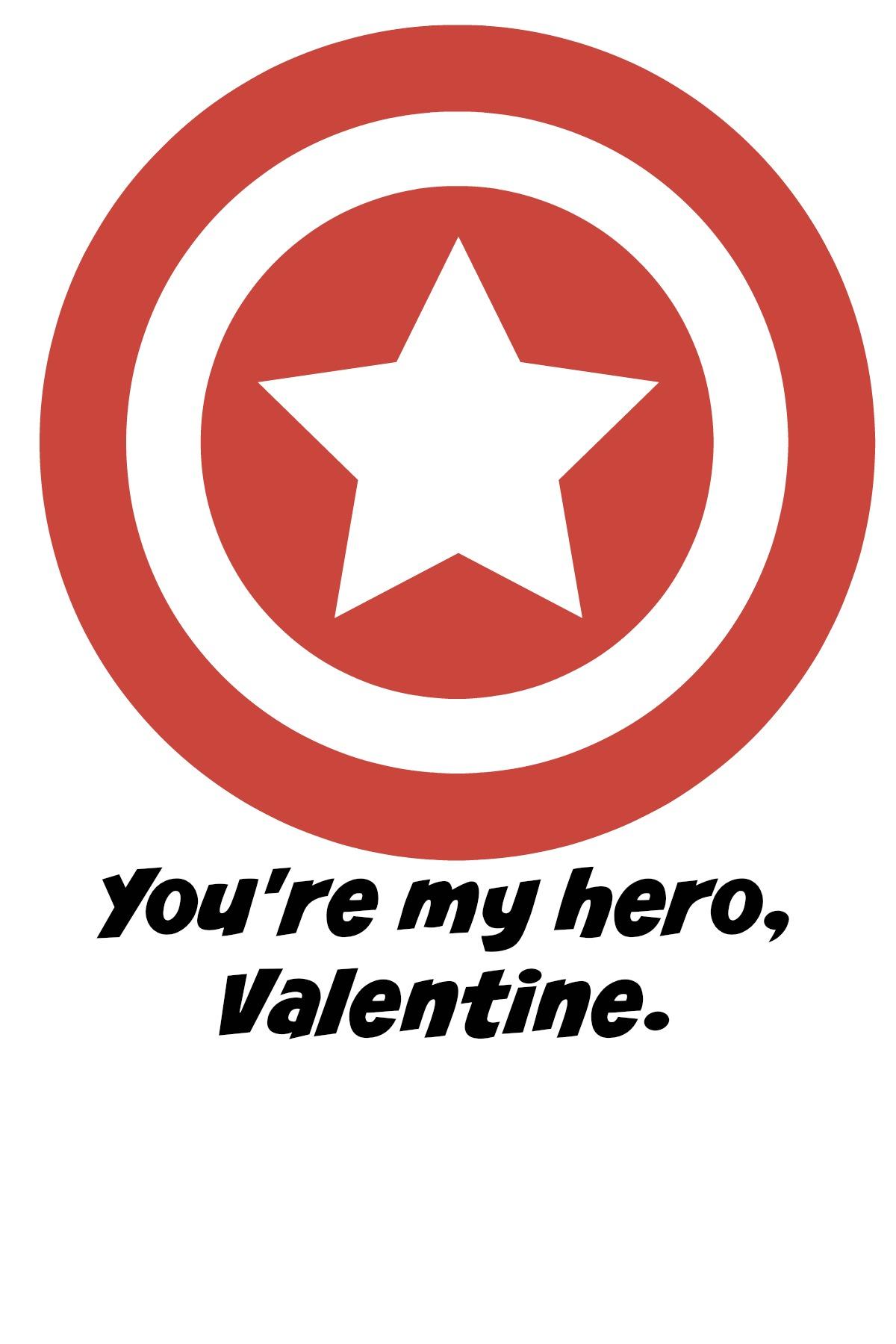 You Re My Hero Valentine Free Printables