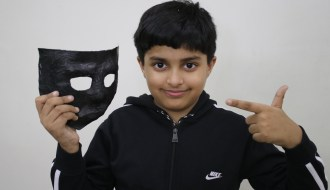 how to make paper mask of Nakabposh from baal veer returns