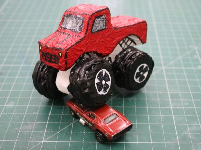 How to make Hot Wheels Monster Truck with Cardboard