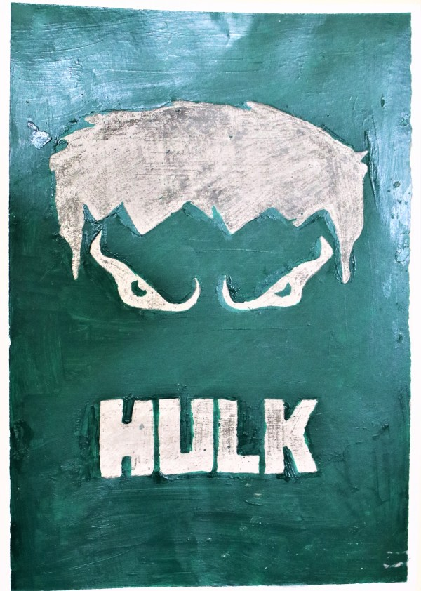 Incredible Hulk Poster made with Oil Pastels