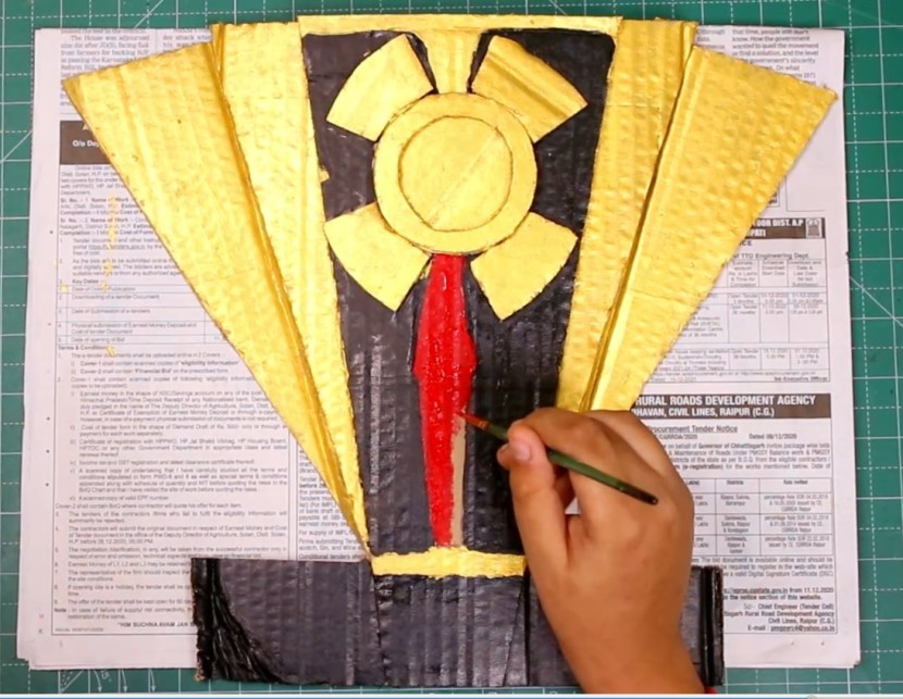 How to paint the Baal Veer Returns shield