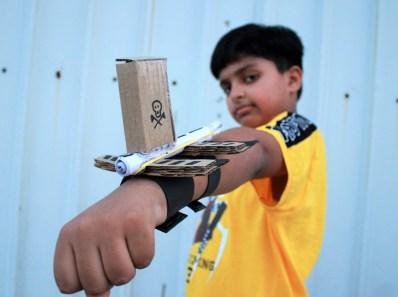 Cardboard gun