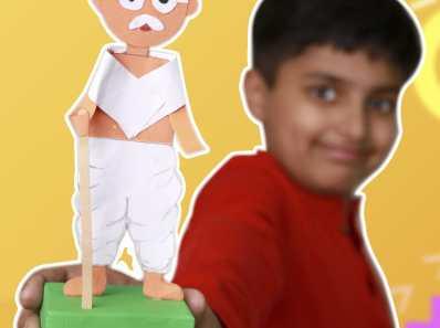 gandhi ji model with paper