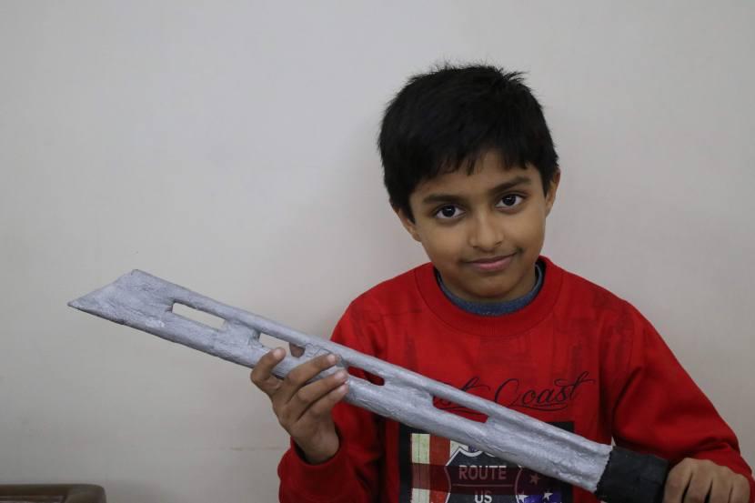 hawk eye sword with newspaper
