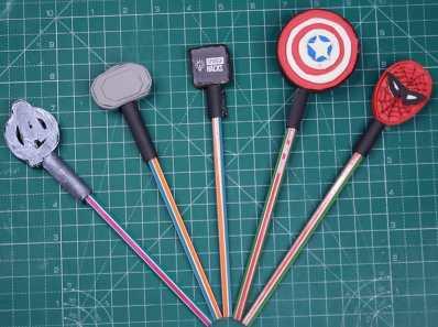 DIY Avenger pencil topper