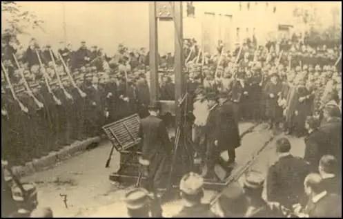 André Soudy La ejecución pública de Raymond Callemin, André Soudy y Stephen Monier.