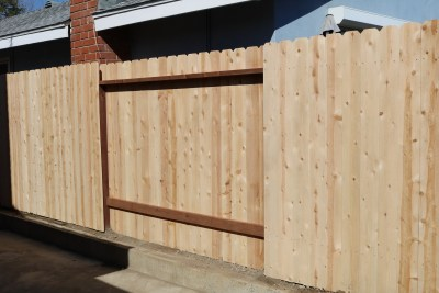 Cedar Boards Good Neighbor Fence
