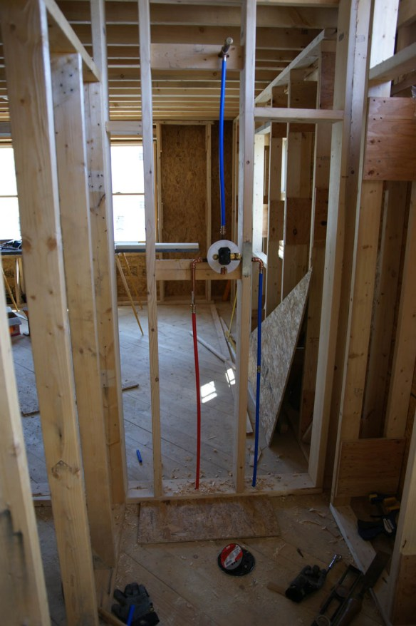 Rough In Plumbing Done Design Amp Construction Of Spartan Amp Hannahs Home