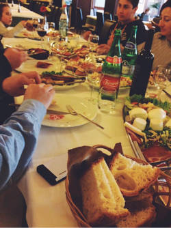 My family made me a seven-course meal that felt endless