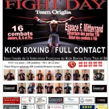 Gala « Fight Day » à Billy-Berclau le 24 avril 2016