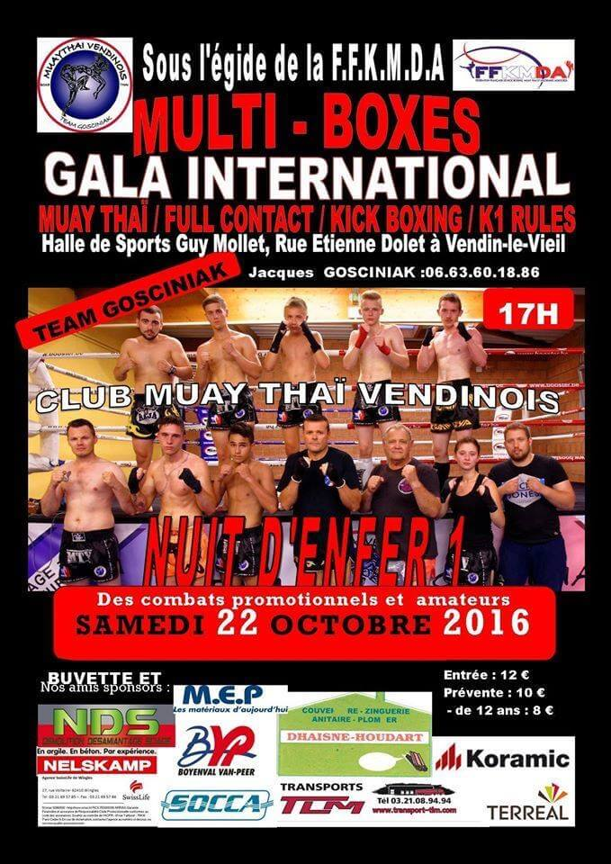 Gala «Nuit d'enfer» à Vendin-le-Vieil