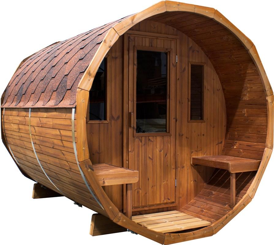 Sauna tonneau spa su dois - Sauna exterieur finlandais bois ...