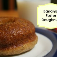 National Doughnut Day: Baked Bananas Foster Doughnuts