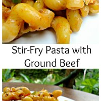 Stir-Fry Pasta with Ground Beef