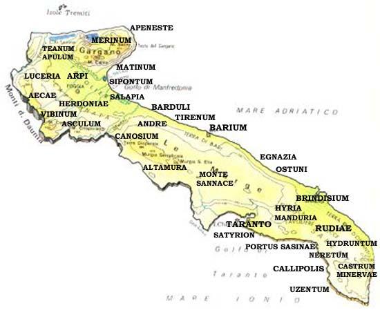Cartina Puglia Grecia.La Magna Grecia In Italia E In Puglia La Gazzetta Delle Medie