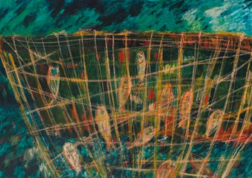 Spazio Tadini, SpazioinStabile - Soldi D'artista-Il dogma del debito-Nigro,Senza titolo 2011 acrilico e pastelli su tela 70 x 100 cm
