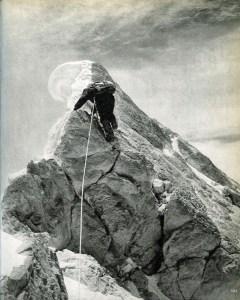 Karakoram The Ascent Of Gasherbrum IV - Walter Bonatti Leads The Last Few Metres To Gasherbrum IV Summit August 6, 1958