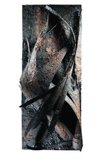 ANTONIO BERNARDO FRADDOSIO -Studio con ferro piombo e catrame 2015