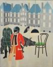Emilio Tadini, Vita di Voltaire, 1968, acrilico su tela, cm 130x160
