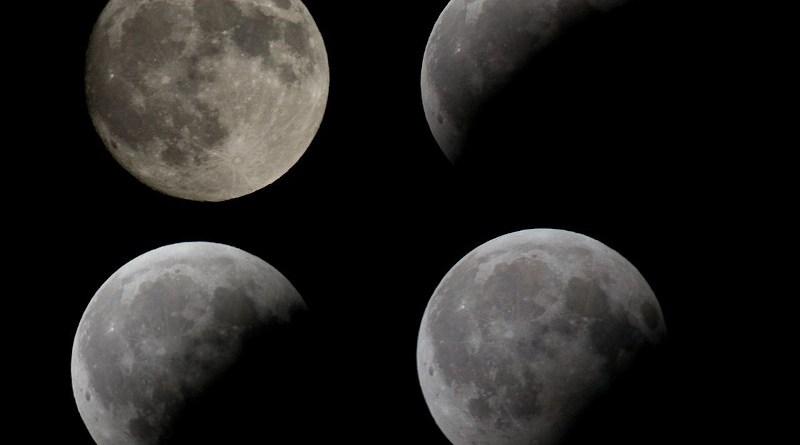 Fotocomposizione dell'eclissi del 16-8-2008