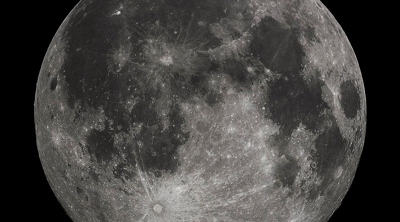 Luna piena vista dall'emisfero boreale della Terra