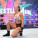 WWE: I festeggiamenti di Ronda Rousey nel backstage di WM 34