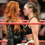WWE: Becky Lynch insulta Ronda Rousey durante una partita di basket (VIDEO)