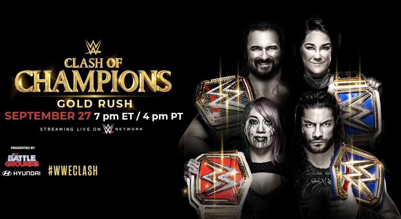 WWE: Card aggiornata di Clash of Champions 2020 (12-09-2020)