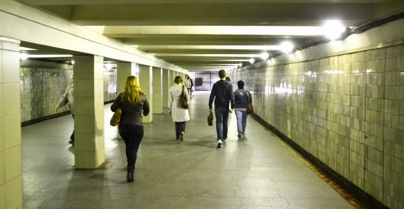 Выход из метро Московская
