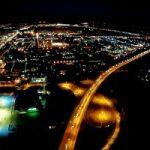 Ночной полёт вокруг Санкт-Петербурга
