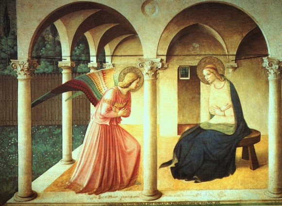 Annunciation, Fra Angelico c. 1437-1446