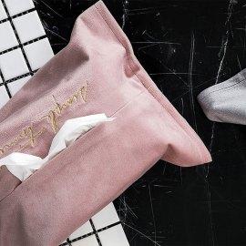Velvet Tissue Box Cover