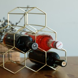 Honeycomb Metal Wine Rack