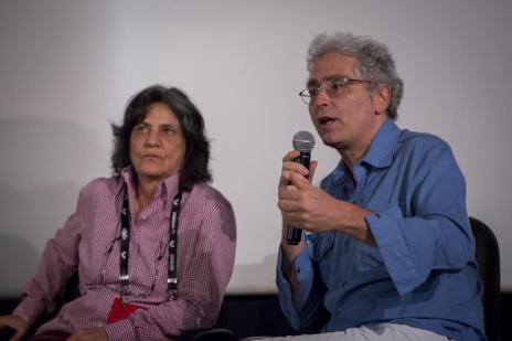Sara Silveira (Dezenove Som e Imagem) e Rubens Rewald (APACI)
