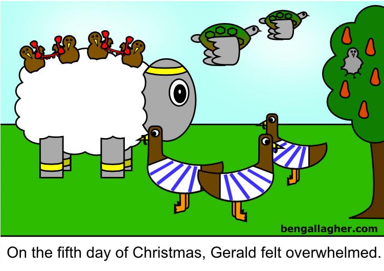 20090101-q-cartoon-gerald-the-sheep-12-days-day-five-gerald-overwhelmed