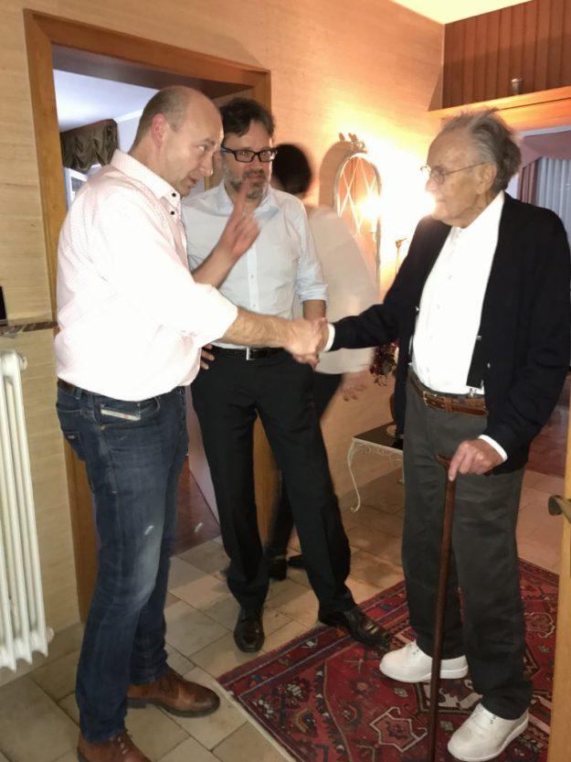 Friedhelm von Schledorn auf seinem 90ten Geburtstag