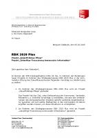 """RBK 2020 Plus – Projekt """"Zukunftsfähige Pflege"""" – Projekt """"Zukünftige Finanzierung kommunaler Infrastruktur"""""""