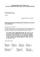 Gemeinsamer Antrag auf Abfassung einer Resolution zum Termin der Landratswahl